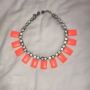 J. Crew coral chunky necklace